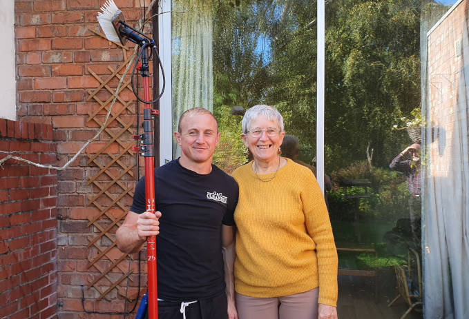 Window cleaning happy customer